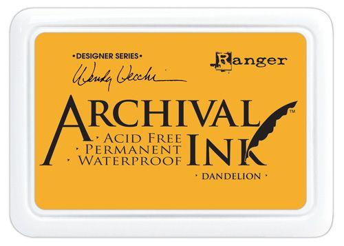 ARCHIVAL INK PAD, USA - Tампон с архивно перманентно мастило, Dandelion