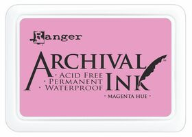 ARCHIVAL INK PAD, USA - Tампон с архивно перманентно мастило, Magenta Hue