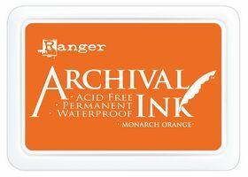 ARCHIVAL INK PAD, USA - Tампон с архивно перманентно мастило, Monarch Orange