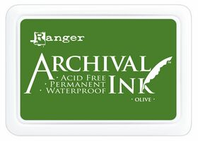 ARCHIVAL INK PAD, USA - Tампон с архивно перманентно мастило, Olive