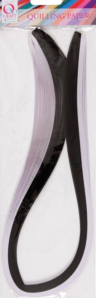 NEW QUILLING STRIPS, Black & White - Квилинг ленти 3мм. 100 бр.