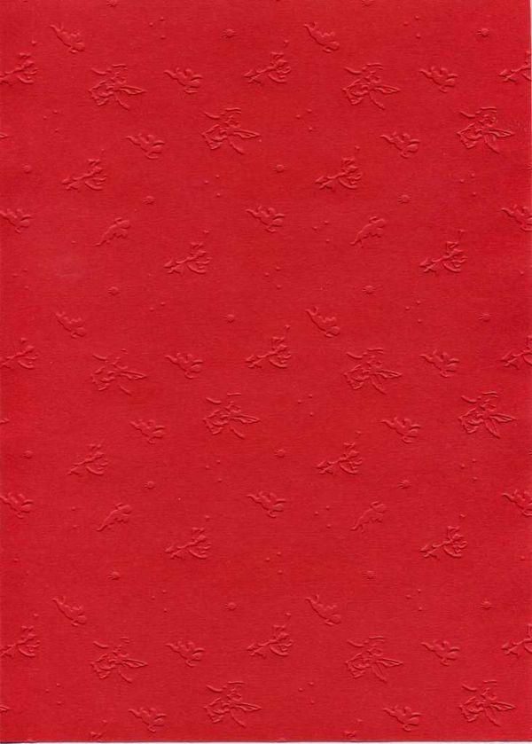 """FB EMBOSS CARD - Преге картон 230гр """"АНГЕЛЧЕТА"""" 50х70см - Тъмно червено"""