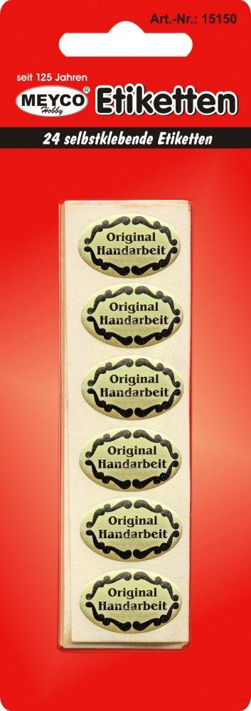 "`Original Handarbeit`Stickers  - ЕТИКЕТИ ""Ръчна изработка"" 24 бр сзл 24х15мм."