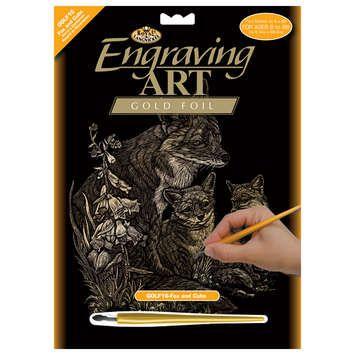 R&L,USA Engraving Art А4 - Картина за гравиране -златно фолио