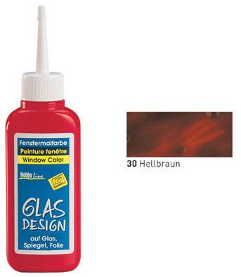 GLASS DESIGN WINDOW COLOR  - Структурна боя за стъкло СВЕТЛО КАФЯВА