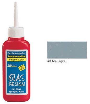 GLASS DESIGN WINDOW COLOR  - Структурна боя за стъкло МИШО СИВА