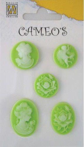 CAMEOS - елементи от полимерна смола GREEN