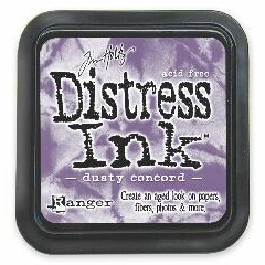 """Distress ink pad by Tim Holtz - Тампон, """"Дистрес"""" техника - Dusty concord"""