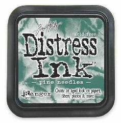 "Distress ink pad by Tim Holtz - Тампон, ""Дистрес"" техника - Pine needles"