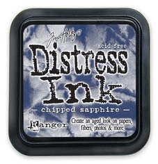 "Distress ink pad by Tim Holtz - Тампон, ""Дистрес"" техника - Chipped Sapphire"