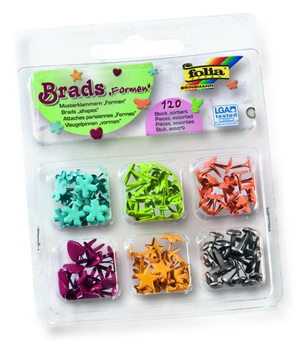BRADS SET - Комплект брадс 6 вида / 120 бр.