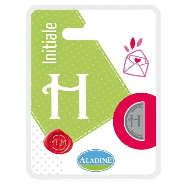 ALADINE,France -  метален печат ПОЛОВИНКА ДВУСТРАНЕН  ИНИЦИАЛ  за восък  H