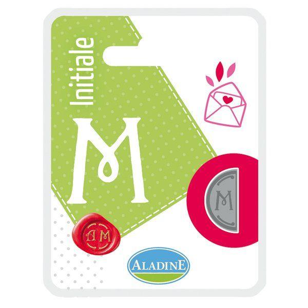 ALADINE,France -  метален печат ПОЛОВИНКА ДВУСТРАНЕН ИНИЦИАЛ  за восък  M