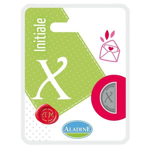 ALADINE,France -  метален печат ПОЛОВИНКА ДВУСТРАНЕН ИНИЦИАЛ  за восък  X