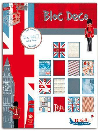 BLOC DECO LONDON -  Скрапбукинг блок 28sheet, 15X20