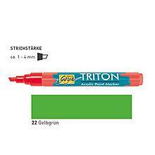 TRITON ACRYLIC MARKER 1-4MM -  Акрилен маркер ЖЪЛТО-ЗЕЛЕНА