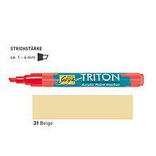 TRITON ACRYLIC MARKER 1-4MM -  Акрилен маркер БЕЖ
