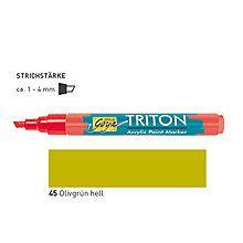 TRITON ACRYLIC MARKER 1-4MM -  Акрилен маркер ОЛИВНА ЗЕЛЕНА