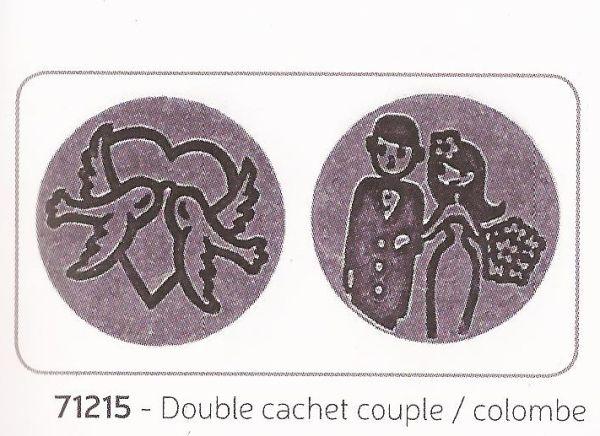 ALADINE DOUBLE SEAL - Метални печати за восък 2бр / двустранен/