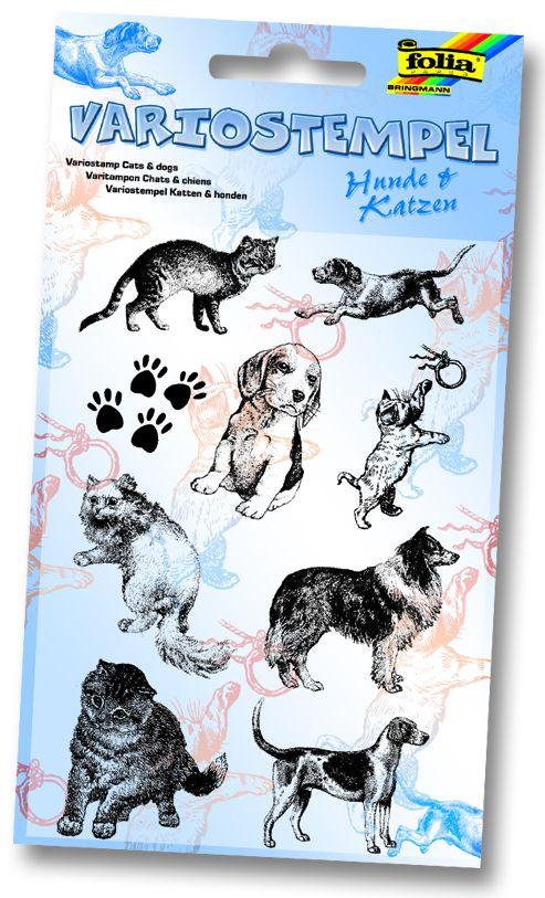 """FOLIA STAMPS - Комплект печати 11Х15 см """"Кучета и котки"""""""