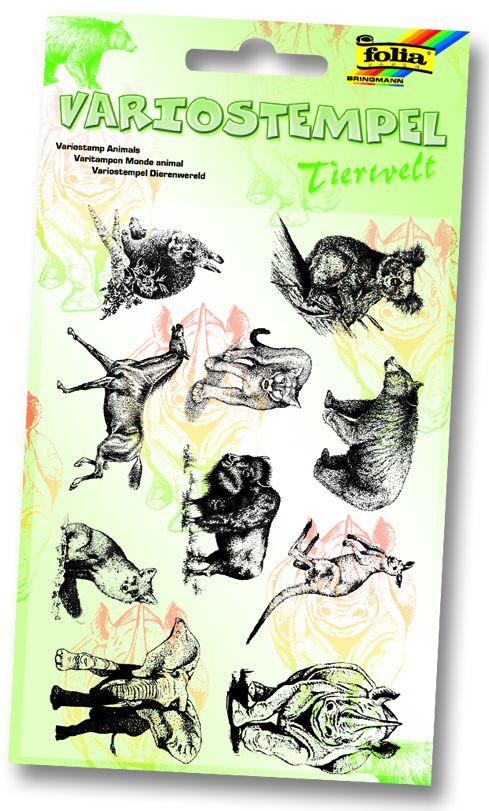 """FOLIA STAMPS - Комплект печати 11Х15 см """"Диви животни"""""""