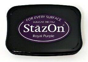StazOn, Solvet ink pad - Тампон с мастило за твърди и неабсорбиращи повърхности - Royal purple
