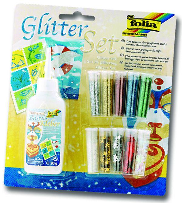 FOLIA GLITTER SET - Хоби Комплект за декорация №579