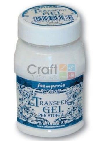 TRANSFER Gel for Fabric, Stamperia -Трансферен медиум за текстил 100 ml.