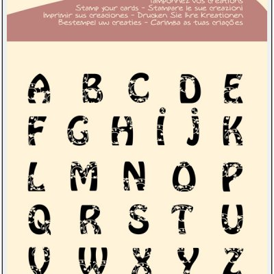 ALPAHABET by ALADINE STAMPS France- Дизайнерски печати  20Х20