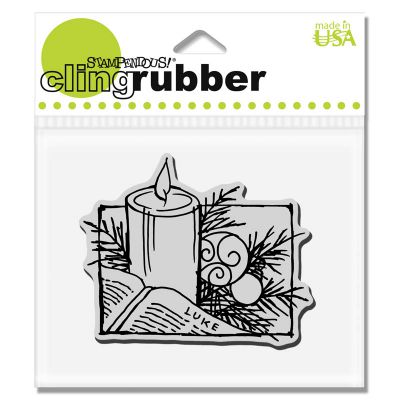 STAMPENDOUS,USA - Гумен клинг печат Pine Candle 8 см.