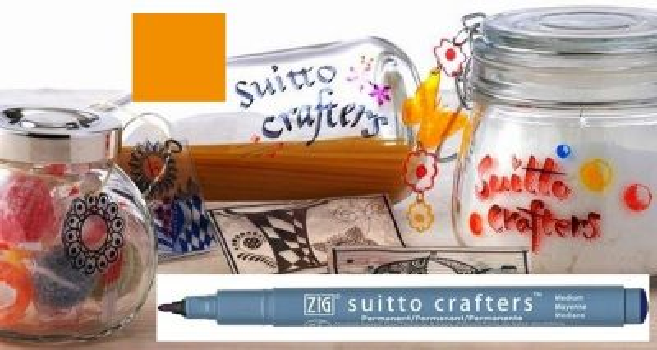 SUITTO CRAFTERS MEDIUM - Перманентен маркер Japan * ORANGE