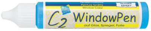 Window Pen C2- 29ml - Глитер - Гладка трансферна боя за стъкло и порцелан
