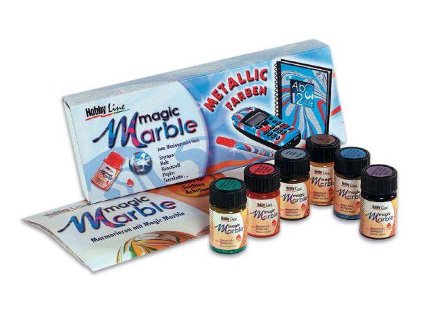 """MAGIC MARBLE METALLIC - Комплект металикови бои за """"мраморна"""" техника № 73610"""