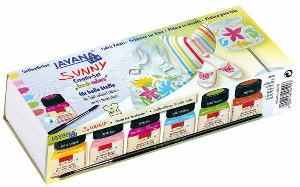 JAVANA TEX SUNNY FRESH - K-кт бои за рисуване върху светъл текстил № 90599