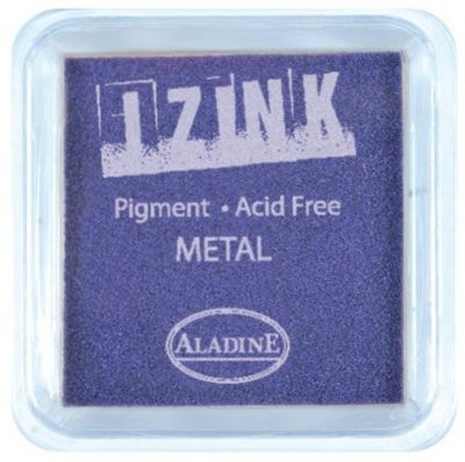 IZINK PAD PIGMENT - Среден тампон 4х4см  METAL PURPLE