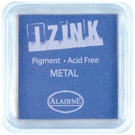 IZINK PAD PIGMENT - Среден тампон 4х4см - METAL BLUE