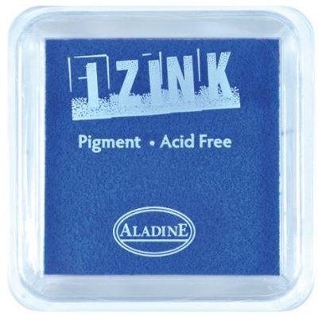 IZINK PAD PIGMENT - Среден тампон 4х4 см - NAVY BLUE