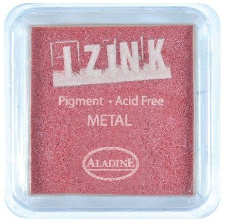 IZINK PAD PIGMENT - Среден  тампон 4х4см - METAL RED