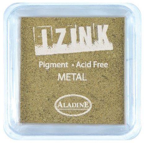 IZINK PAD PIGMENT - Среден размер тампон - METAL GOLD