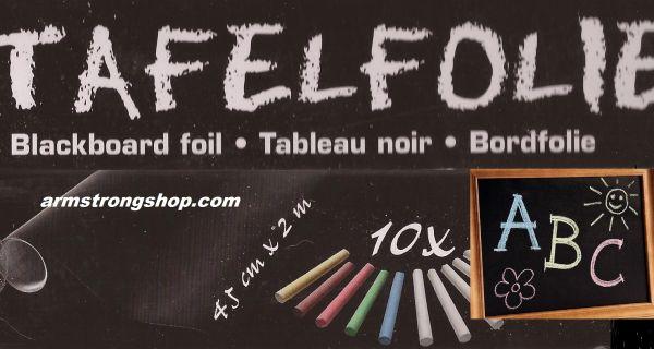 BLACKBOARD FOIL  45x200cm, self-adhesive + 10 chalks   - СЗЛ Черно фолио за дъска  + тебешири