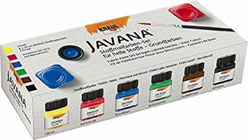 JAVANA TEX SUNNY - K-кт бои за рисуване върху светъл текстил № 90600