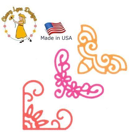 Cheery Lynn ,USA - Шаблон за рязане и ембос Ъгли b161