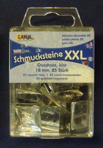 HOBBYLINE ACRYLIC STONES- призматични камъни - квадрат 18 Х 18 мм. 25 бр.