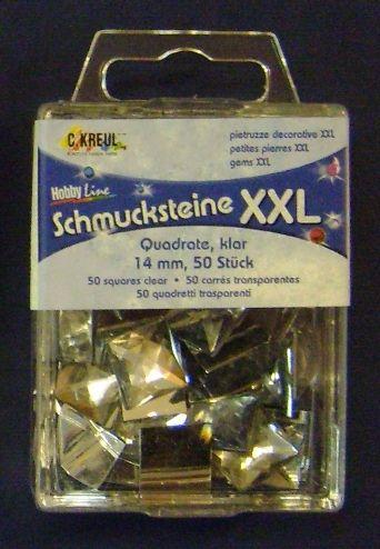 HOBBYLINE ACRYLIC STONES - призматични камъни - квадрат 14 Х 14 мм. 50 бр.