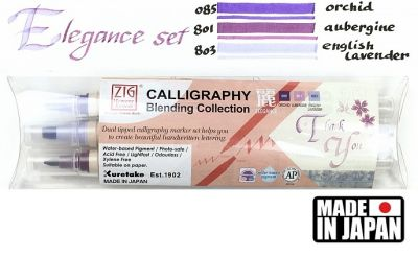 CALLIGRAPHY BLENDING Collection ZIG - Калиграфски комплект двувърхи маркери ELEGANCE
