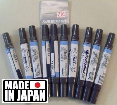 ZIG  3000S,Japan -Маркери на алкохолна основа 10 цв. ПРОМОЦИЯ!