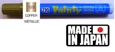 ZIG PAINTY MEDIUM - Маркер ТЕЧНО МЕДНО 2-3 мм. Made in Japan