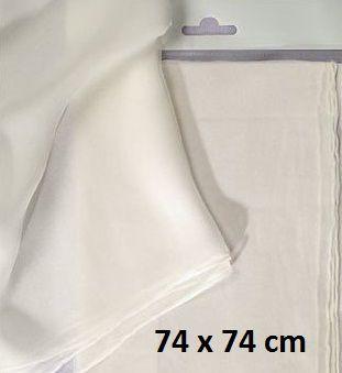 ART SILK PONGEE SCARF - Поръбен шал от естествена коприна 74 Х 74 см.