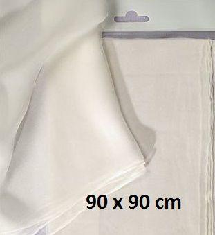 ART SILK PONGE  SCARF - Поръбен шал от естествена коприна 90 Х 90 см.