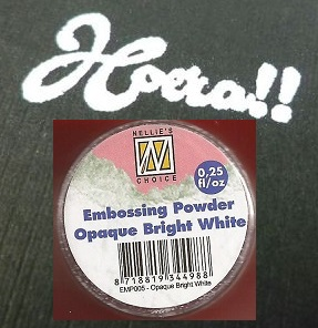 """Embossing powder """"Opaque bright white 0.25"""